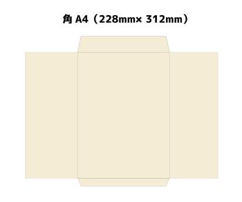 封筒は、縦で使うなら、「長形封筒」、「角形封筒」の二種が適しています。