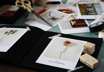 基本は写真、台紙となるアルバムやスクラップブック、はさみやカッター、のりなど、お家にあるもので簡単に作れちゃいます♪