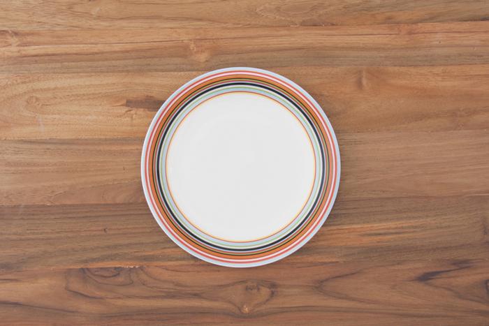 プレートは、メイン料理を盛りつけるのは勿論、ケーキやパンケーキなどのスイーツを盛り付けるとお洒落なカフェ風に…。また、取り皿としても便利なサイズです。