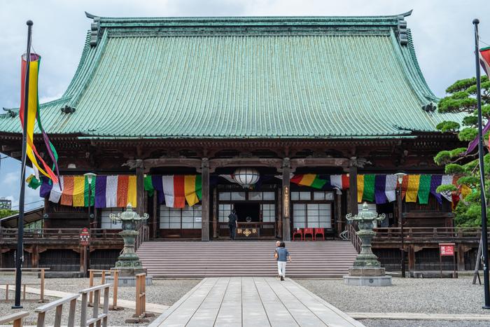 護国寺は東京メトロ護国寺駅から徒歩3分ほどの距離にある由緒あるお寺です。徳川綱吉が母である桂昌院の願いを受け、建立したお寺で、山県有朋、大隈重信など著名人のお墓もあります。広い敷地内には猫たちが、のんびりとお散歩していることが多く、猫に会えるスポットとして知られています。