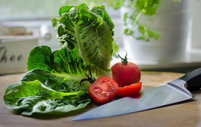 レタスよりしっとりした葉が特徴的なサラダ菜