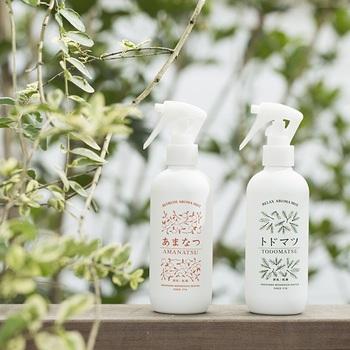 【中川政七商店】のアロマミストも、【あおぞら】が開発に関わっているアイテム。愛媛の甘夏と北海道のトドマツの蒸留水をベースにした、自然由来の優しい香りが広がります。