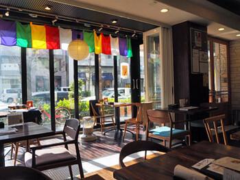 寺カフェという店名にふさわしい内装も印象的。キャッチコピー通り、心と体のデトックスができそうです。