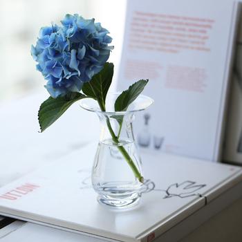 豊かな香りを楽しめるヒヤシンスが咲いたら、そのままフラワーベースとして活用。もちろん他のお花を挿して使ってもOKなので、一年中活躍してくれます。
