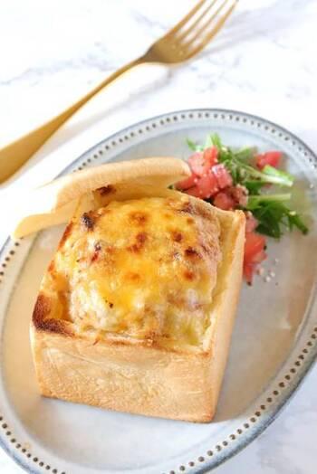 こちらは、小海老を使ったパングラタン。ミルクやチーズの風味やコクも豊かでクリーミー。とろけるおいしさに笑顔がこぼれます。