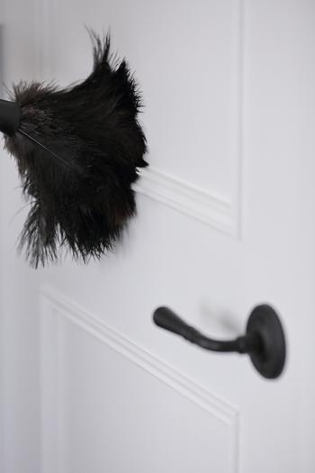 ドアの装飾部分や廊下の巾木も、羽ブラシを使えば短時間で綺麗に。「狭いすき間や、細かい部分の掃除が面倒…」という方は、毎日のお掃除に羽ブラシを取り入れてみてはいかがでしょうか。