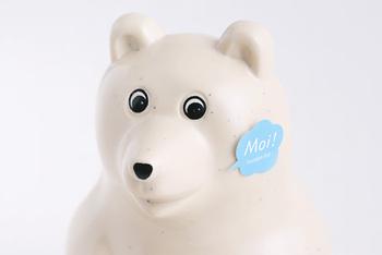 さらに、フィンランド語で「Moi!(やぁ!)」という、吹き出しタイプのシールがついているのも可愛くて素敵。