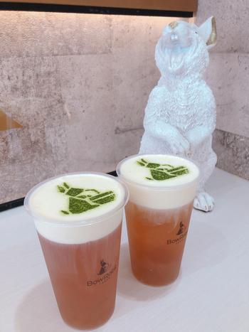 ドリンクの種類が豊富なのが、BowRabitの魅力。ほうじ茶や四季春茶、鉄観音茶など定番のお茶だけでなく、オレンジやミックスベリーなど果実ジュースも用意されています。何度来ても飽きないお店です。