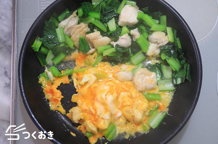 「小松菜」と「卵」の美味しい関係♪手軽に作れるアレンジレシピ