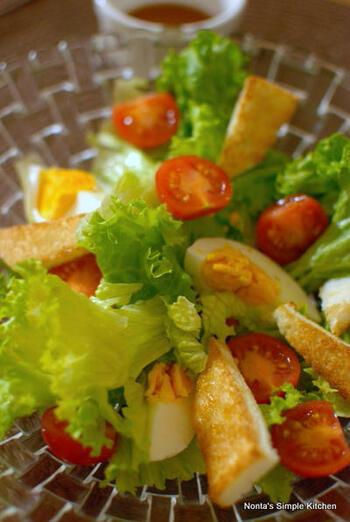 トーストが水分を吸ってべっちゃりしないよう、葉もの野菜はサラダスピナーでしっかり水切りするのがポイント。