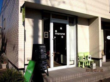 「marone(マロネ)」は12席の小さなカフェ。木更津図書館と木更津高校の間と少し分かりづらい場所にありますが、探してでも訪れたいとひそかに注目されています。