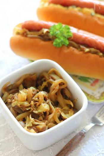 味付けはカレールウのみの簡単な炒め物。残った野菜を使ってさっと作れますので、あと一品のお惣菜にもなりますし、お弁当にもぴったり。
