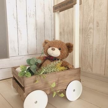 100均の材料だけで作れるおもちゃカートは、そのままお店に売っていそうなクオリティです!