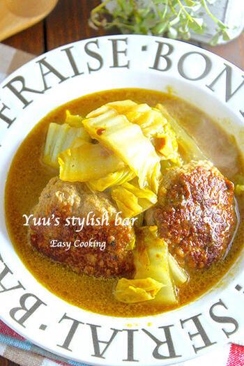 人気の煮込みハンバーグは、メイン料理でありながら、スープとしても楽しめるのがいいですね。冷房で体が冷える夏は、温かいものも取り入れましょう。