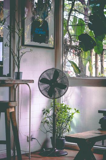 設定温度を下げるよりも、扇風機で空気を循環させることで、効率よく部屋を冷やすことができます。冷やす過ぎない部屋作りをすることで、室内外の温度差を抑えることにも繋がるので、身体も上手く温度変化に対応できるようになるでしょう。