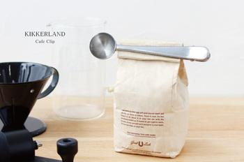 ひとり暮らしの憩いの時間に、コーヒーを飲むのはいかがでしょう。こちらのアイテムはクリップの先の可愛らしい丸型がスプーンになっていて、カップ1杯分のコーヒー豆10gを計量できます。
