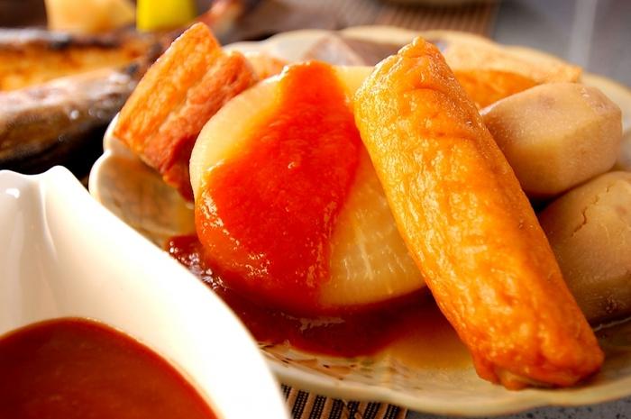 寒い冬にじんわり温まる料理といえば、おでん! 自家製お味噌で、おでんのお供の合わせ味噌を作ってみましょう。 お好みで甘めにしたり、ゆずを入れてみたり、アレンジしてもいいですね。