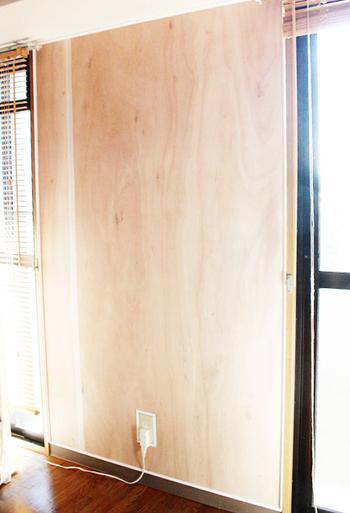 ■before もっと本格的に壁を変えたいという時は、ベニヤ板を壁に張り、塗装できる状態にしてからカスタマイズするという方法があります。
