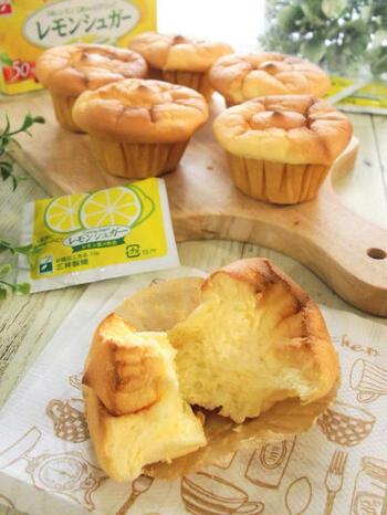 レモンシュガーをふんだんに使った、ふんわり甘酸っぱいシフォンケーキのレシピ。ノンオイル&米粉を使っているので、とってもヘルシー!