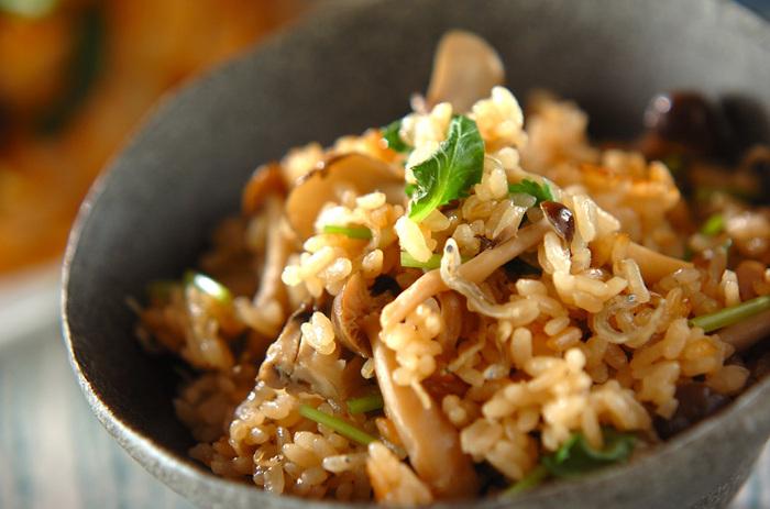 逆に炊き込みごはんなど味をつけるレシピは新米に向きません。お米自体の水分量が高く、出汁などを上手く吸い込んでくれなかったり、水分が多すぎでべっちゃりとした炊きあがりになりやすいためです。