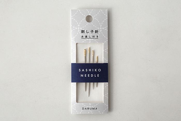 赤いダルマのマークでお馴染みの、明治34年創業の横田株式会社の刺し子の道具の「刺し子針」。