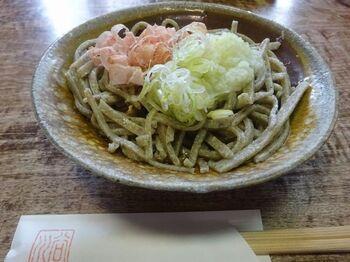 福井県の蕎麦と言えば、「越前おろし蕎麦」。その特徴は、黒みがかった蕎麦に、大根おろし、ねぎ、鰹節をのせ、ダシ汁かけて頂くこと。汁と薬味の相性が食欲を刺激します。