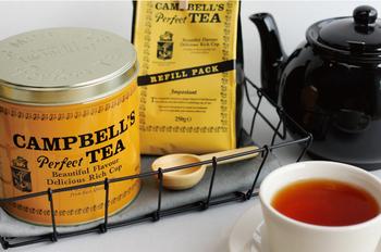 アイルランドの首都ダブリンで1797年に誕生した「CAMPBELL'S perfect TEA(キャンベルズパーフェクトティー)」。アフリカ・ケニア産のアッサム種を改良したケニア独特の品種の茶葉を使用。 やさしい香りで豊かで飲みやすく力強いコクが感じられ、後味はすっきり。ストレートはもちろん、ミルクティーや夏はアイスティーにしても◎。たっぷり500g入っているので、毎日のティータイムにいただきたいですね。