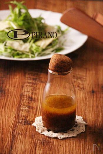 生姜の風味が生きたドレッシング。ポン酢しょうゆを使って作るので簡単です。