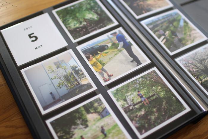 毎月無料で何枚か、写真をプリントしてもらえるサービスを利用するのも◎。決まった枚数を絶対にチョイスしなければならないので、おのずと厳選された写真が集まります。