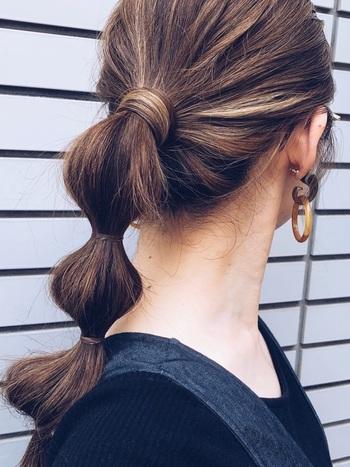 大人簡単まとめ髪