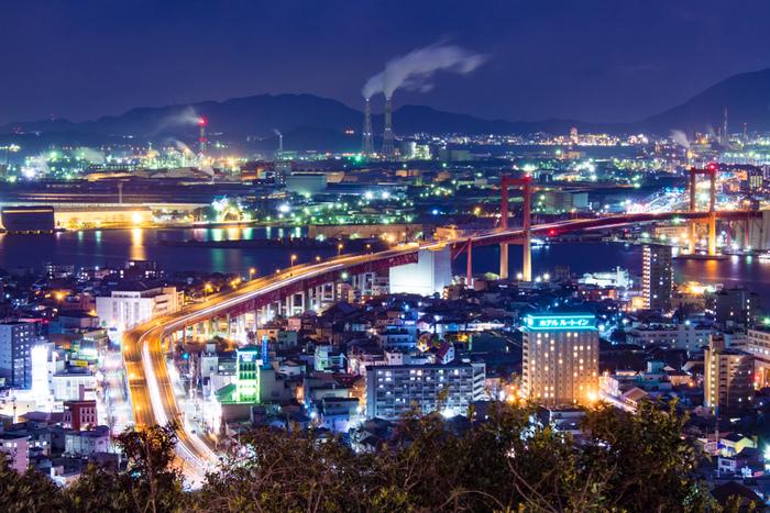 まるでSF世界のよう!近未来的な景色に魅せられて~福岡県・北九州市での工場夜景~