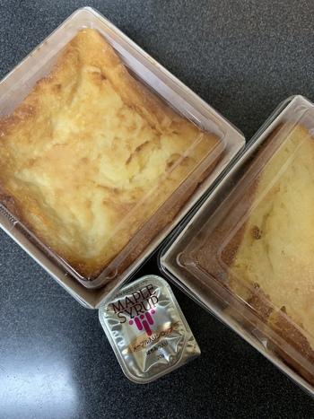 テイクアウトもできるので、手土産にもおすすめです。テクアウト用の「特製フレンチトースト」は、人気の食パン「ムー」を使用していて、バターの豊かな風味としっとりした食感を味わえますよ。