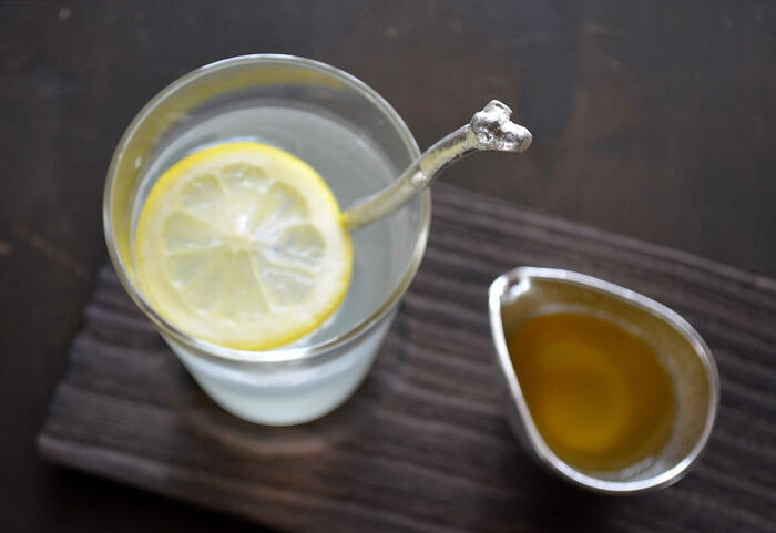 酒器でもご紹介した、能作の錫100%のアイテム。小枝モチーフのマドラーは、不均一で味わいのあるフォルムが魅力。これを使って混ぜるだけで、お酒の味わいがアップします。