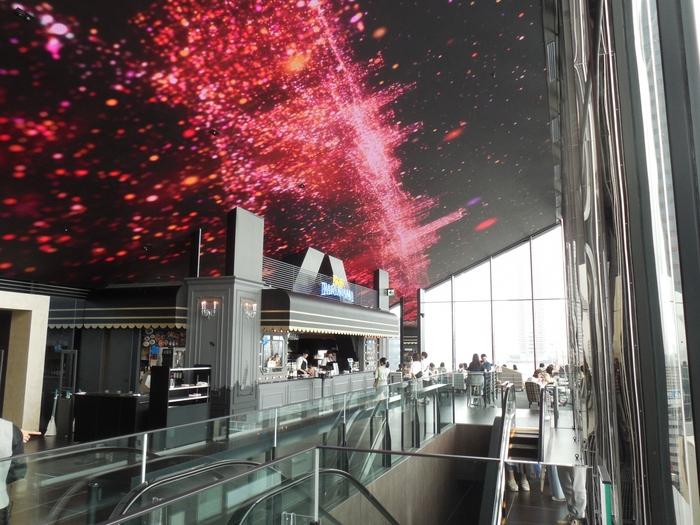 一番の目玉は「グランドシネマサンシャイン」と名付けられた、まさにプレミアムな映画館です。国内で最大のスクリーンをはじめ、IMAXや4DXなど、レーザープロジェクターなどで圧倒的な臨場感を楽しめます。また、施設内の装飾は近未来を感じさせるような照明から、名画ポスターが飾られた落ち着いた空間など様々な空間が広がっています。