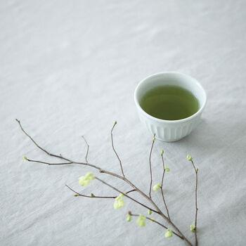 お茶時間をより豊かにするために、時に定番とは違うタイプの緑茶を試してみるというのも、なかなか面白くておすすめです。こちらは緑茶に柚子陳皮をプラスしたもの。柚子のすっきりとした香りのおかげで、リフレッシュ効果も期待できます。