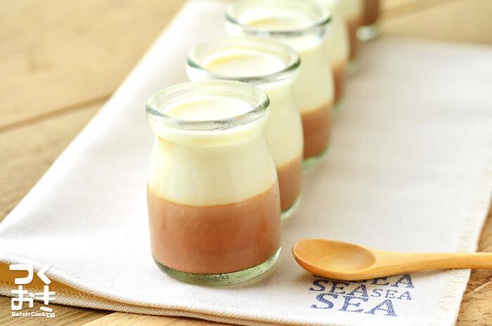 見た目も可愛く、砂糖少なめの牛乳プリン。牛乳を豆乳に変えてみたり、自分自身でアレンジも自由自在!低カロリーでプリンを楽しむことができます。