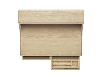 引き出しの中には木製トレイがついているため、文房具もごちゃごちゃにならずにきれいに収納できます。