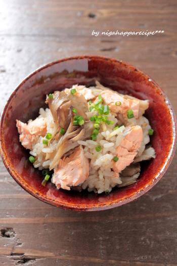 疲労回復にも効果的といわれる鮭は、旬食材のまいたけとも相性抜群!キノコから出る旨味や、食感も一緒に楽しみましょう♪