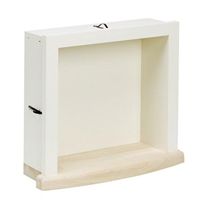 南海プライウッド 飾り棚 ミニッチ シェルホワイト 340×305×129.5mm MN20-3001D