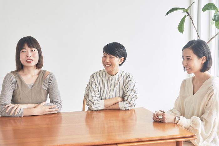 (左から)松田未来さん、仁田ときこさん、熊谷美沙子さん。