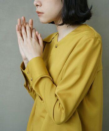 日本語で「からし色」とも呼ばれる「マスタードイエロー」。くすみがかった黄色のことで、明るいながらも深みがあり、大人っぽい雰囲気があるのが特徴です。 似た色合いとして、「黄金(こがね)色」や「山吹(やまぶき)色」といった日本ならではの美しい名前でも呼ばれます。