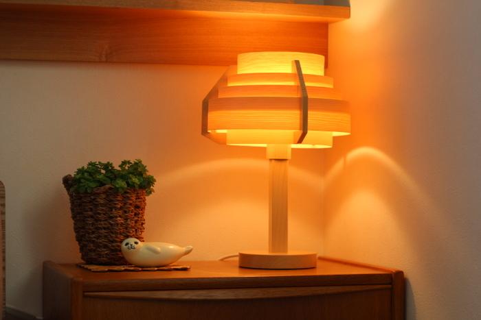 秋の夜長のお供には、優しい色の照明を取り入れてみてはいかがでしょう。蛍光灯から白熱灯など暖色系の照明に替えてみると、驚くほど夜のお部屋の雰囲気が変わります。