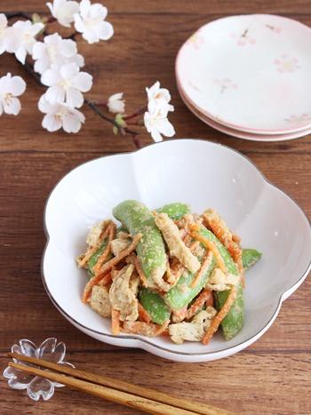 こちらも材料を一度に茹でる簡単レシピです。スナップエンドウはシャキッとした食感がよく、サラダから炒め物まで幅広く使えて便利。春に活用したいゆで野菜です。