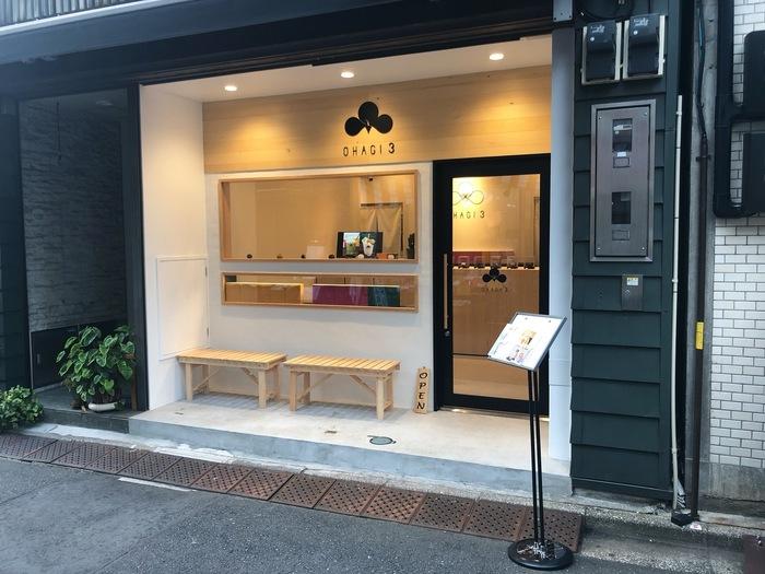 仲見世通りのすぐ隣にある「OHAGI3」は、名古屋発のおはぎ専門店。2019年にオープンしたばかりで、関東に初出店したことでも注目されています。