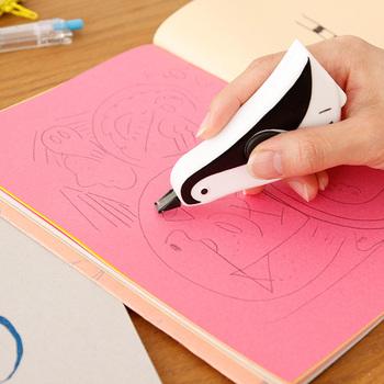 ペンギンの形がかわいい修正テープ。スケジュールの書き直しに使えます。普段はデスクにちょこんと置いておけるので、飾っておくだけでもかわいいですね。