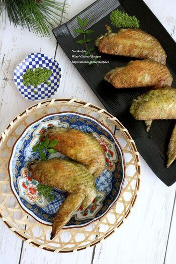 味付けは抹茶塩のみのシンプルな味付け。魚焼きグリルやトースターで簡単にできる1品でおつまみにも。
