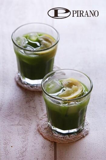 はちみつのまろやかな甘さに、しょうがの風味と香りが際立つグリーンティー。体の内側から元気になれそうなヘルシーな味。