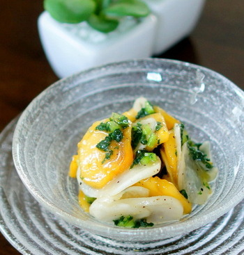 調味料はオリーブオイルとすし酢だけ。味付けの失敗知らずな嬉しいレシピです。