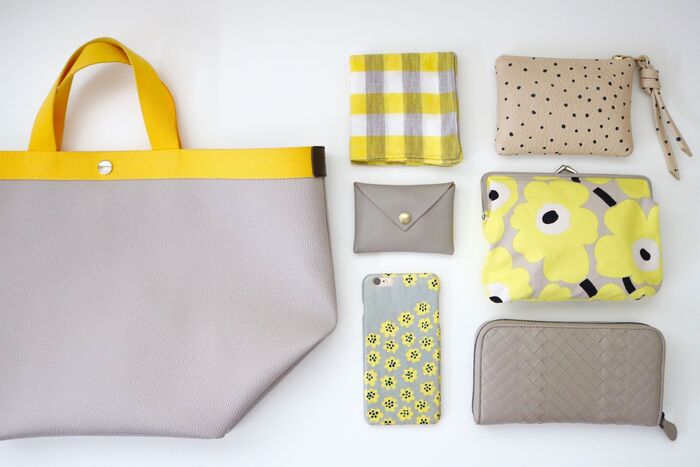 バッグインバッグを使うよりもアイテム数が多くなってしまうのがポーチを使うときのデメリットですが、テーマカラーを決めておくとバッグの中がすっきりと見えます。