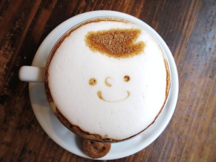ここcafe Lottaへ来るなら是非ロッタちゃんのカフェラテを頂いてみて下さい。可愛いロッタちゃんのラテアートが施されたクリーミーなカフェラテが頂けますよ♡